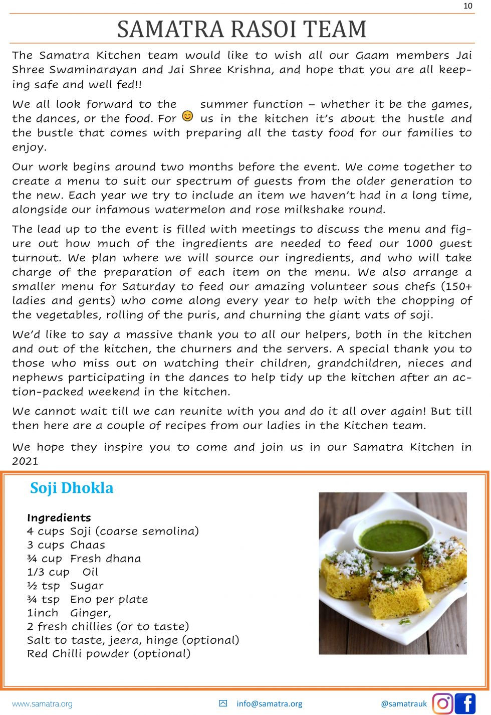 Samatra Newsletter - 10
