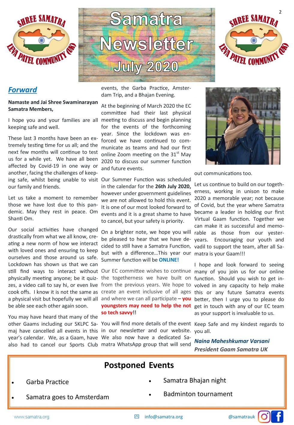 Samatra Newsletter - 2